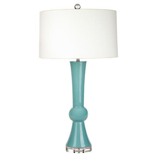 Chance Table Lamp, Aqua