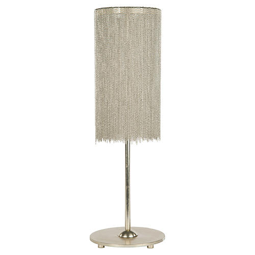 Harlow Table Lamp, Silver