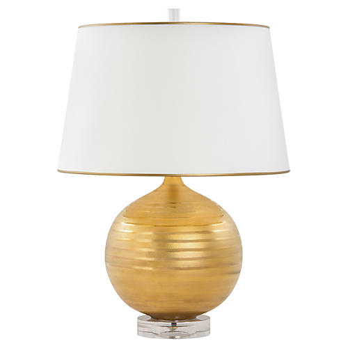 Saturn Table Lamp, Gold