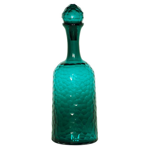 "17"" Honeycomb Bottle, Turquoise"