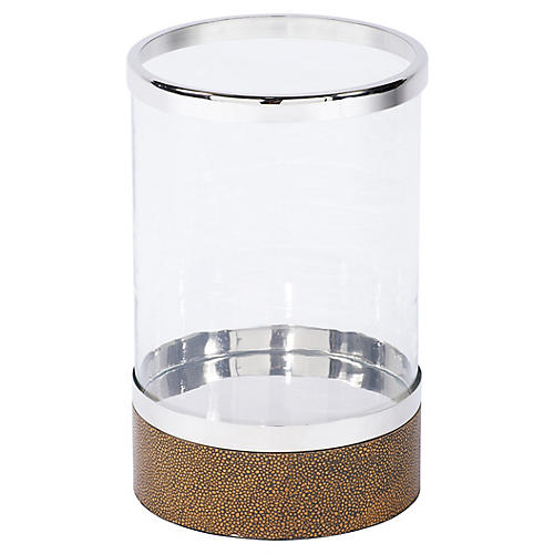 Round Shagreen Hurricane, Brown