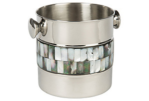 Pearce Ice Bucket w/ Mother-of-Pearl*