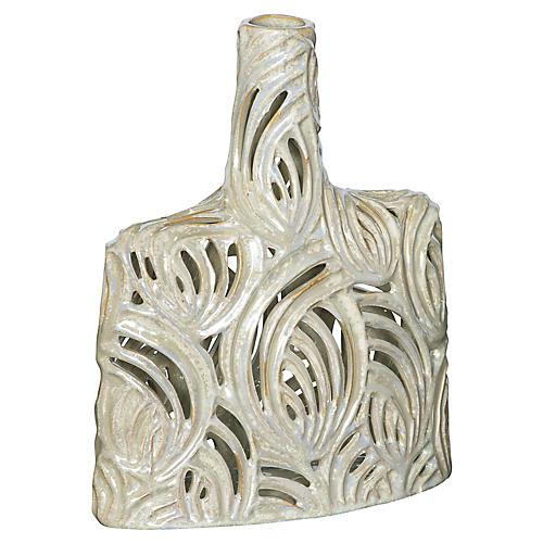 Small Pierced Openwork Ceramic Bottle