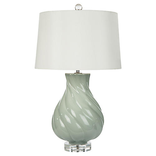 Tatum Table Lamp, Celedon