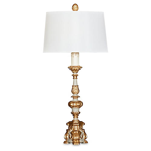 Alice Table Lamp, Pewter