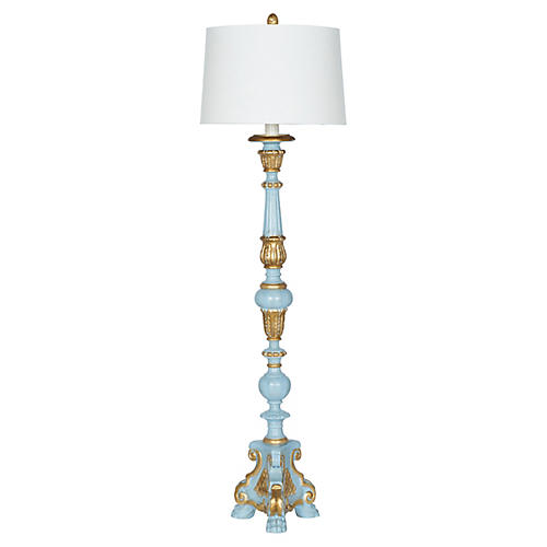 Pompidou Floor Lamp, Blue/Gold