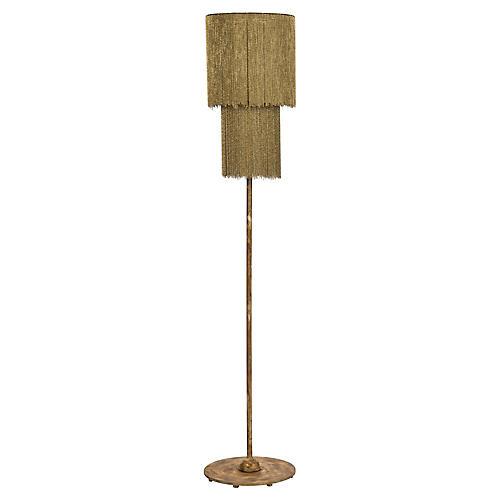 Zephyr Floor Lamp, Antiqued Gold