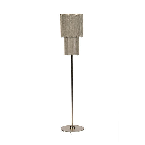 Zephyr Floor Lamp, Antiqued Silver