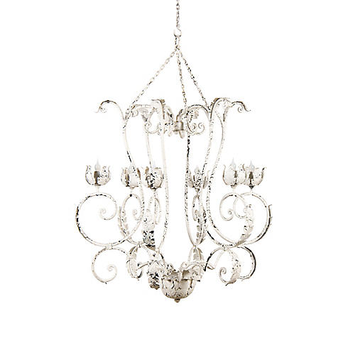 Solace Chandelier, Antiqued White