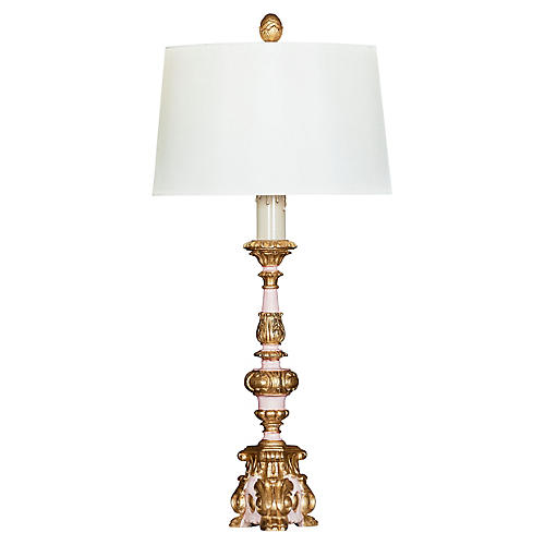 Arielle Table Lamp, Rose/Gold