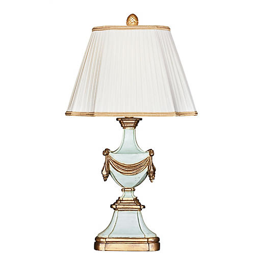 Antoinette Table Lamp, Blue/Gold
