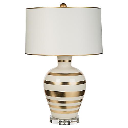 Arianna Table Lamp, Cream/Gold