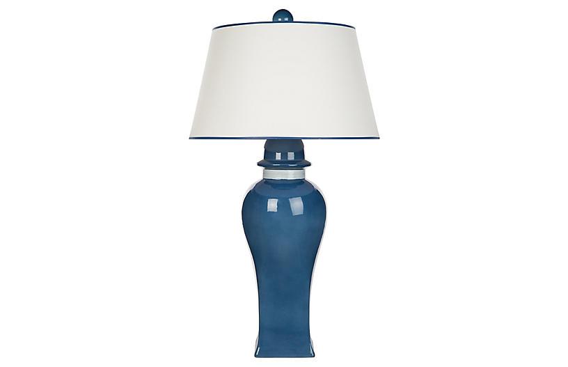 Bona Table Lamp, Blue