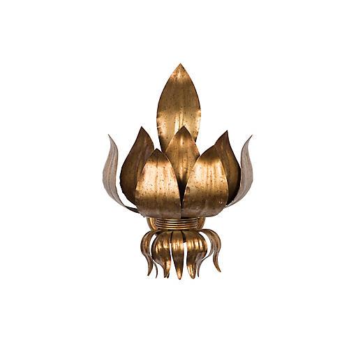 Iatalia Sconce, Antiqued Gold