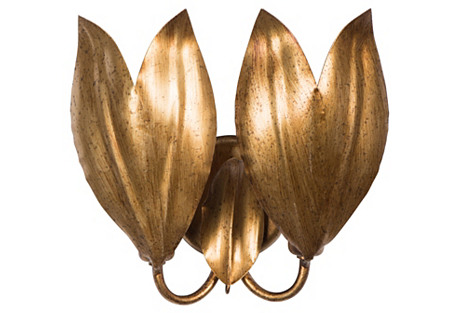 Sicily Sconce, Antiqued Gold
