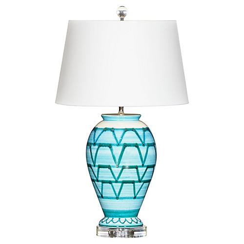 Watermill Table Lamp, Aqua