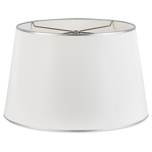 Beckett Shade, White/Silver