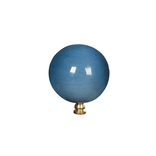"2"" Winborne Finial, Blue/Gold"
