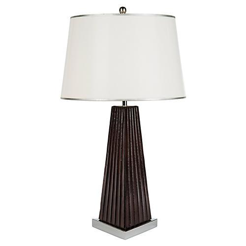 Buffalo Table Lamp, Chocolate/Silver