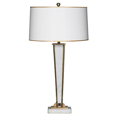Bryant Table Lamp, Marble/Gold