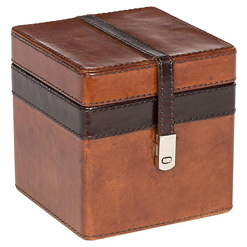 Buffalo Stash Box, Tan/Chocolate/Nickel