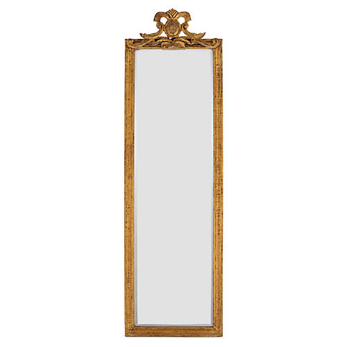 "Tall 16""x55"" French Floor Mirror, Gold"