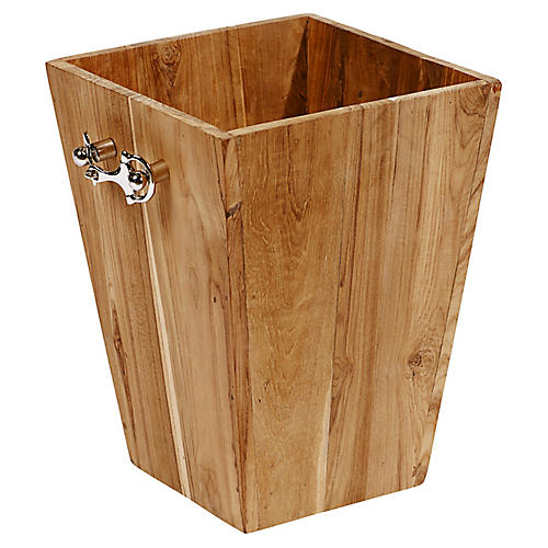 "16"" Planter, Light Brown/Silver"
