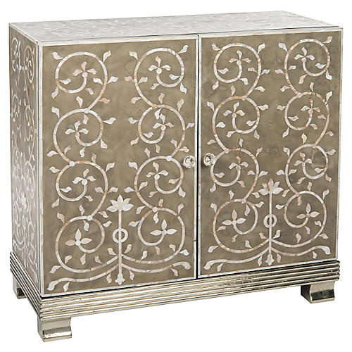 """Holt 35"""" Mother-of-Pearl Inlay Sideboard"""