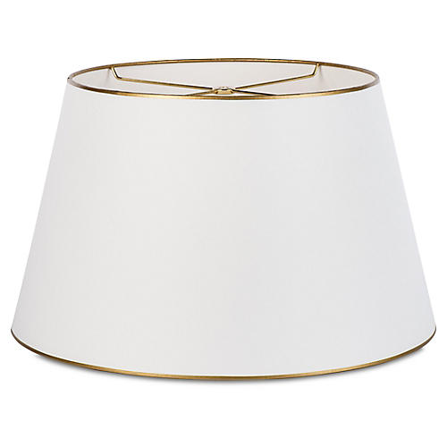 Gable Shade, Off-White/Gold