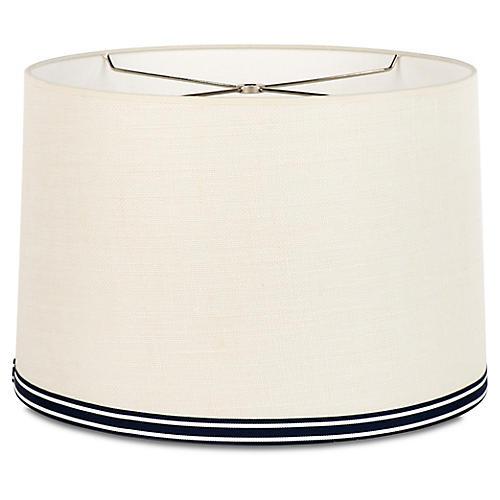 Montauk Stripe Shade, Off-White/Navy/Silver
