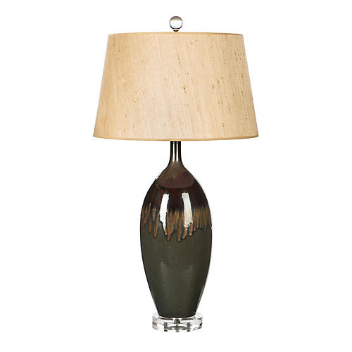 Clarisa Table Lamp, Chocolate/Chestnut