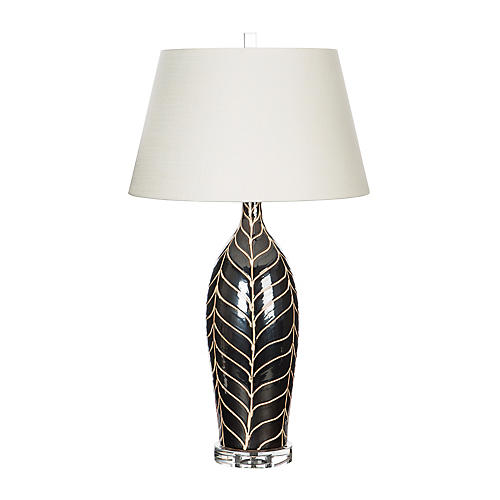 Cypress Table Lamp, Chocolate/Cream
