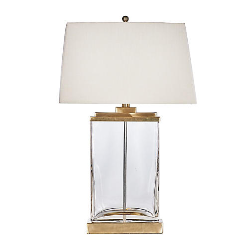 Seacove Table Lamp, Clear/Gold