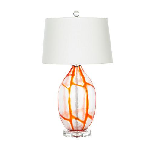 Viejo Table Lamp, Tangerine