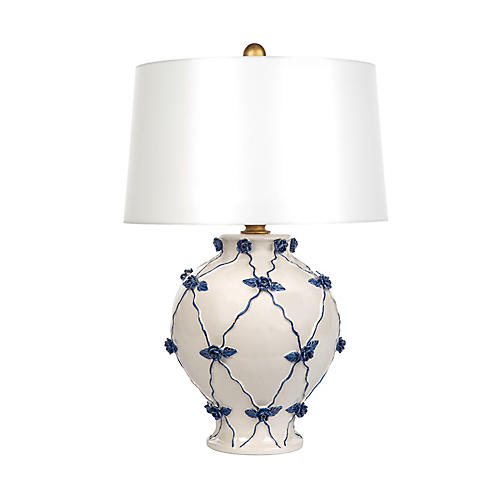 Floyd Table Lamp, Blue/Cream