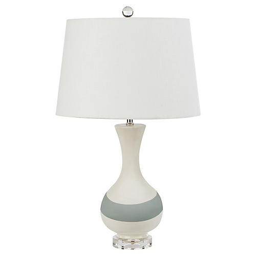 Ormond table lamp white gray