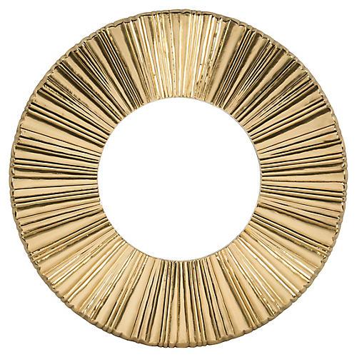 Sunburst Wall Mirror, Gold