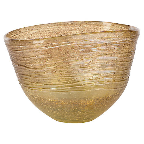 Amber Short Vase, Transparent Gold