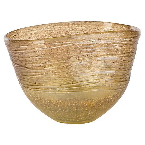 Amber Short Vase, Transparent Gold