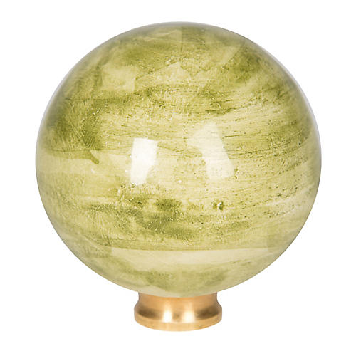 Ceramic Ball Finial, Light Green