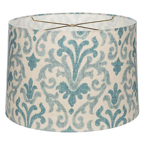 Lighting accessories one kings lane fleur de lis drum lampshade bluecream aloadofball Choice Image