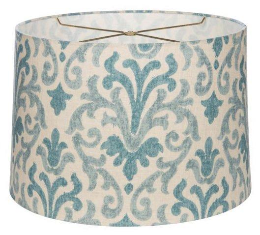 Fleur de lis drum lampshade bluecream bradburn home brands fleur de lis drum lampshade bluecream bradburn home brands one kings lane mozeypictures Images