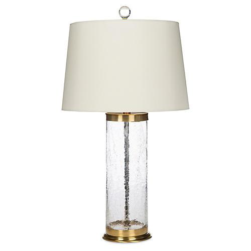 Salma Table Lamp, Clear/Brass