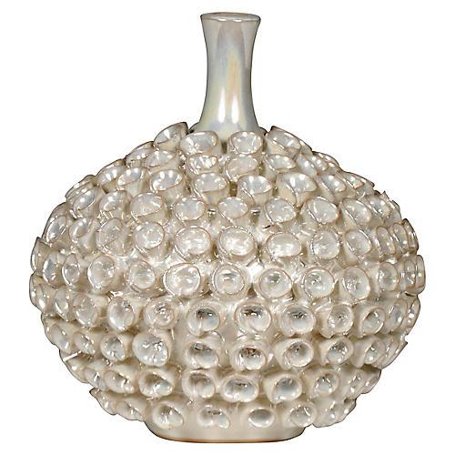 "8"" Seychelles Petit Vase, Pearl"