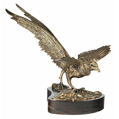 "15"" Bird Figure, Brass"