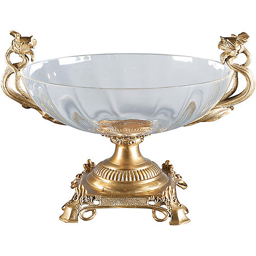 "12"" Diana Decorative Bowl, Gold"