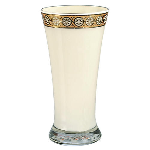 "6"" Eris Tumbler, Cream/Gold"