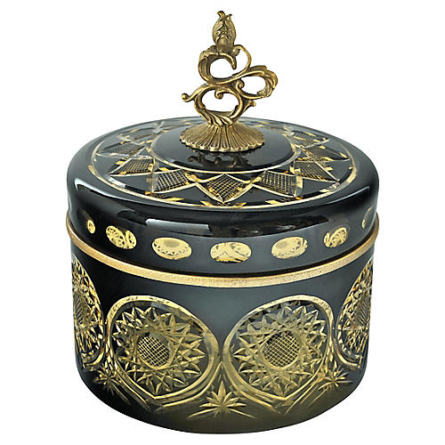 "9"" Pan Box, Black/Gold"