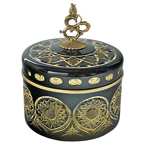 "9"" Pan Box, Black/Gold"