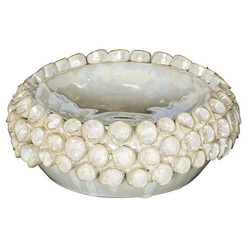 "4"" Pearl Wide Votive, Off-White"